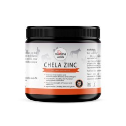 NuVena Chela Zinc 200g - cynk dla koni, chelat aminokwasowy